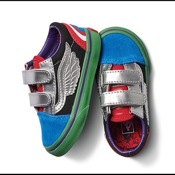 80c66caddc4 Vans Marvel toddler Avenger Old Skool V shoes